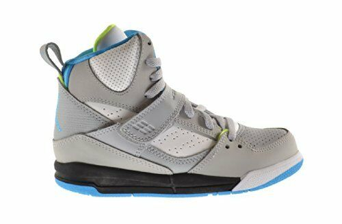 f5e419d0c46 Details about New Youth Air Jordan Flight 45 High PS Shoes (384521-016) Wolf  Grey  Powder Blue