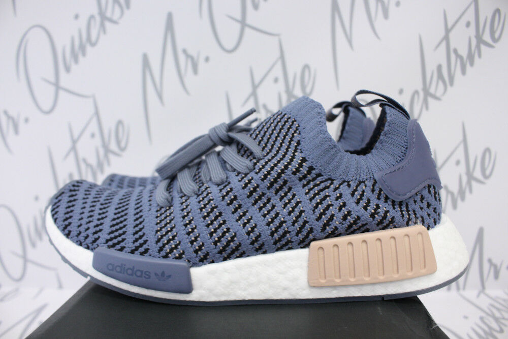 77bf8593c19a8 Details about WOMENS ADIDAS ORIGINALS NMD R1 STLT SZ 6.5 STEEL ASH PEARL  RUNNING WHITE CQ2029
