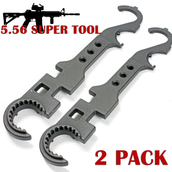 Armorer Wrench Tool 2 PACK Steel Gunsmith Multi Combo Barrel Remove .223 5.56