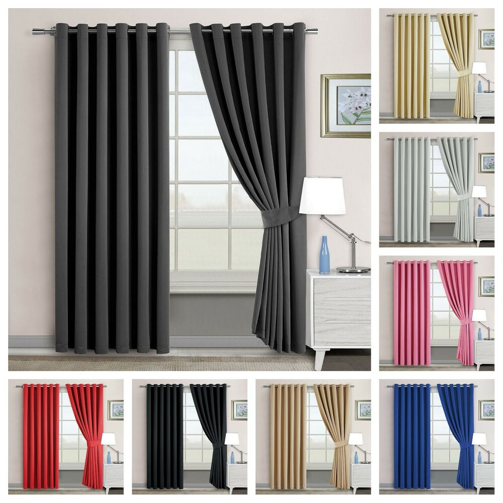 Tiebacks Pair Brand New Home, Furniture & Diy United Oxford Check Lined Curtains