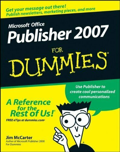 MS Off Publisher 2007 For Dummies by Mccarter, Jim Paperback Book The Cheap Fast