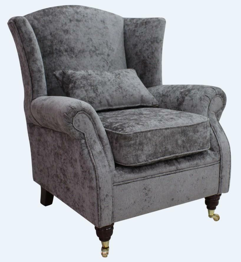 Ashley Wing Chair Fireside High Back Armchair Nuovo Ash