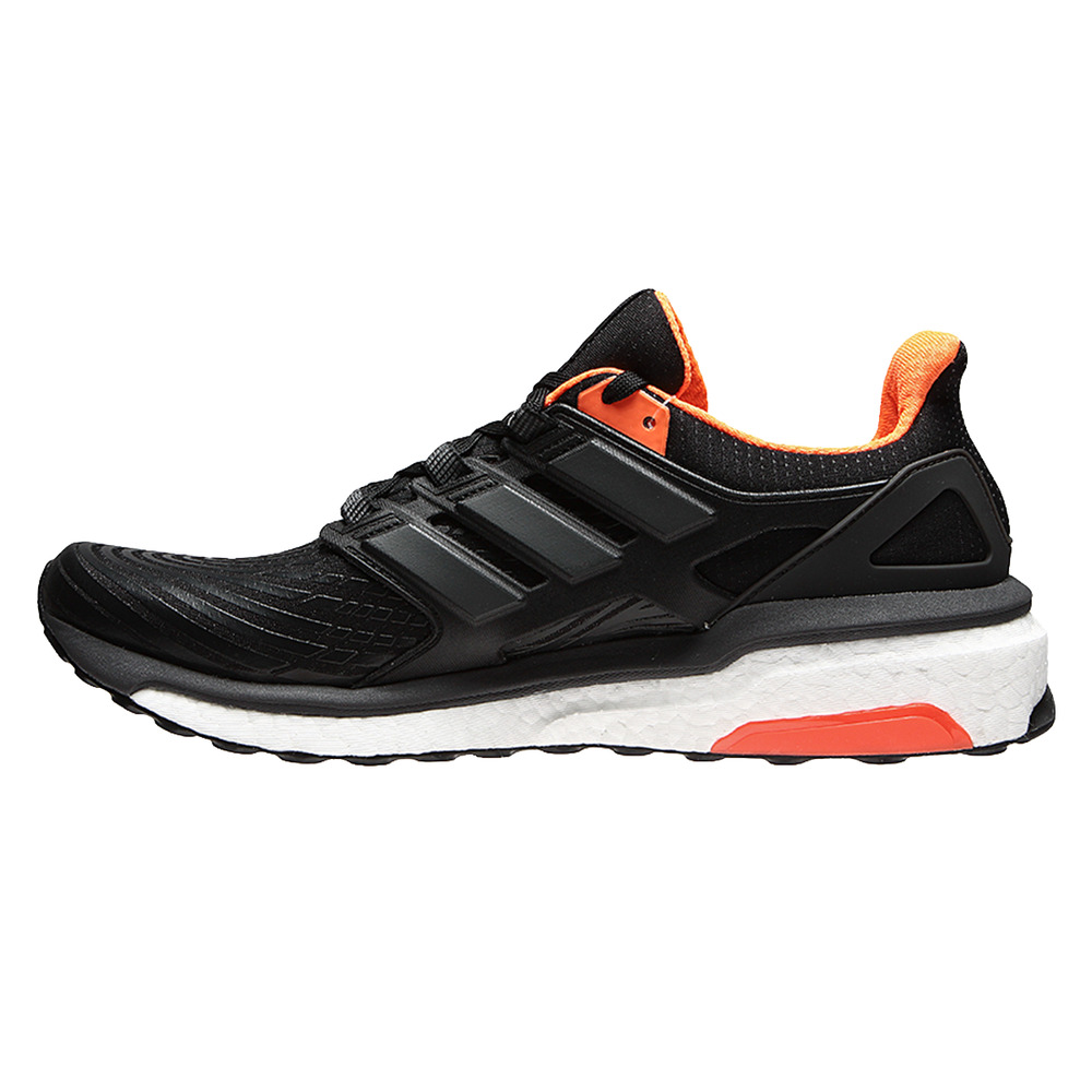 timeless design db28b 113bd New Mens Adidas Energy Boost Running Trainers Black Orange BB3452  eBay