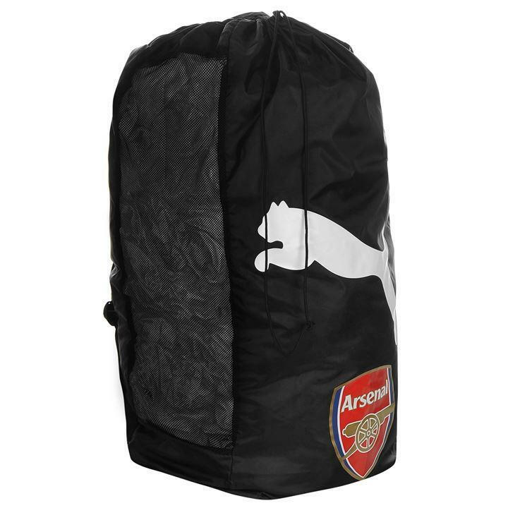 Details about Official Puma Arsenal Football Ball Sack Large String Bag  Backpack Black R682 84936f48db39e