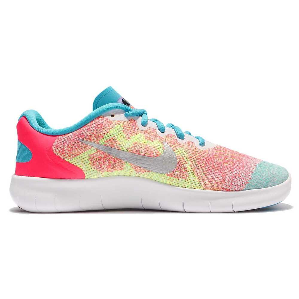 3513c4b48547 Details about NEW Nike Free RN 2017 GS Run Pink Blue Kids Girls Running  Shoes 904258-100 SZ 6Y