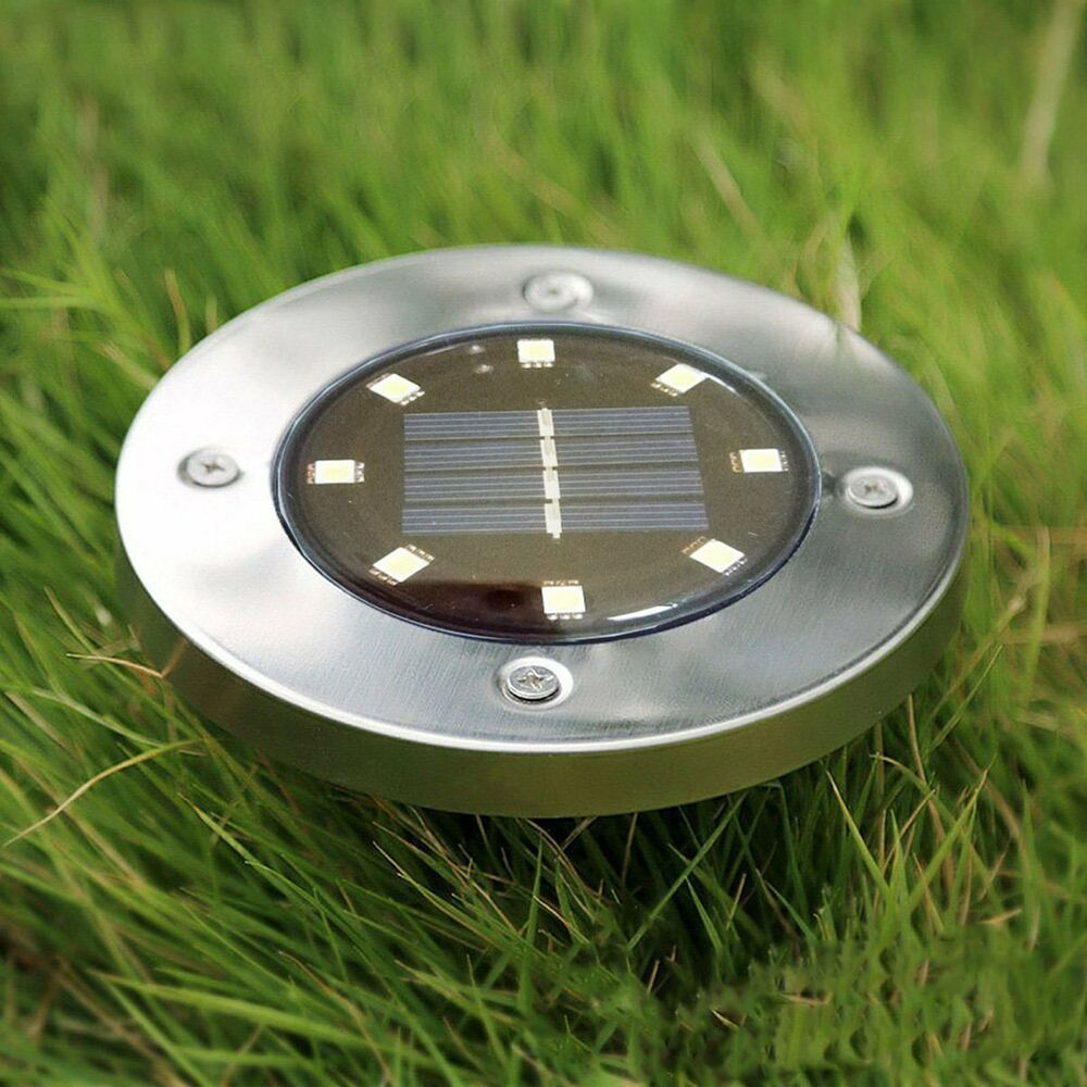 Outdoor Solar Lights In Ground: 8 LED Solar Light Buried Light Under Ground Lamp Path Way