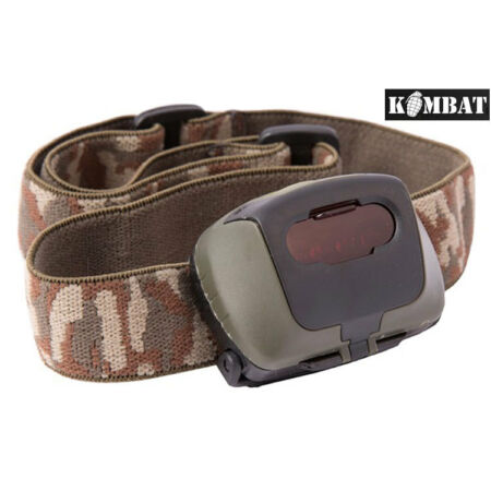 img-Army Combat Military 4 LED Headlamp Camping Work Head Torch + Red Filter