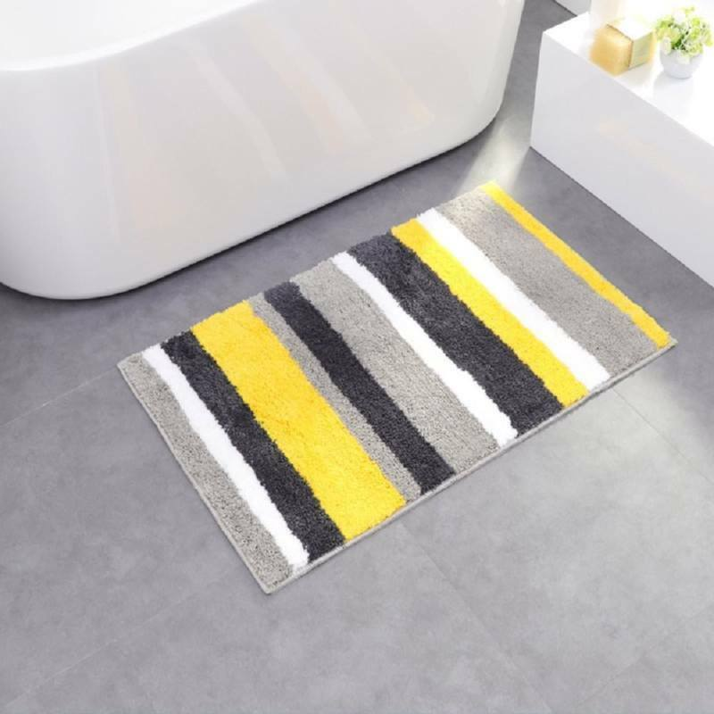 Hebe Microfiber Bath Rugs Non Slip Bath Mats For Bathroom Step Out