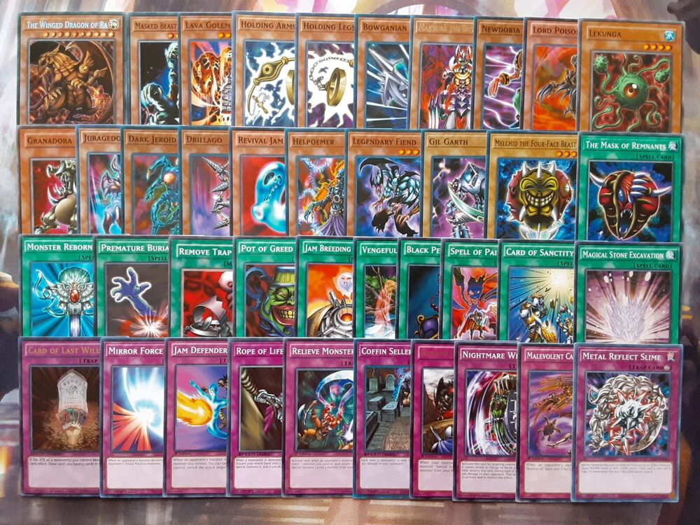 yugioh authentic yami marik ishtar deck anime 40 cards the winged dragon of ra ebay