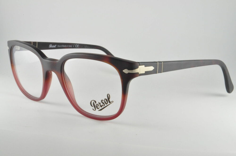 70ad279b8f4e Details about NEW ORIGINAL PERSOL 3093-V 9025 Havana Gradient Red Unisex  Eyeglasses 50mm ITALY