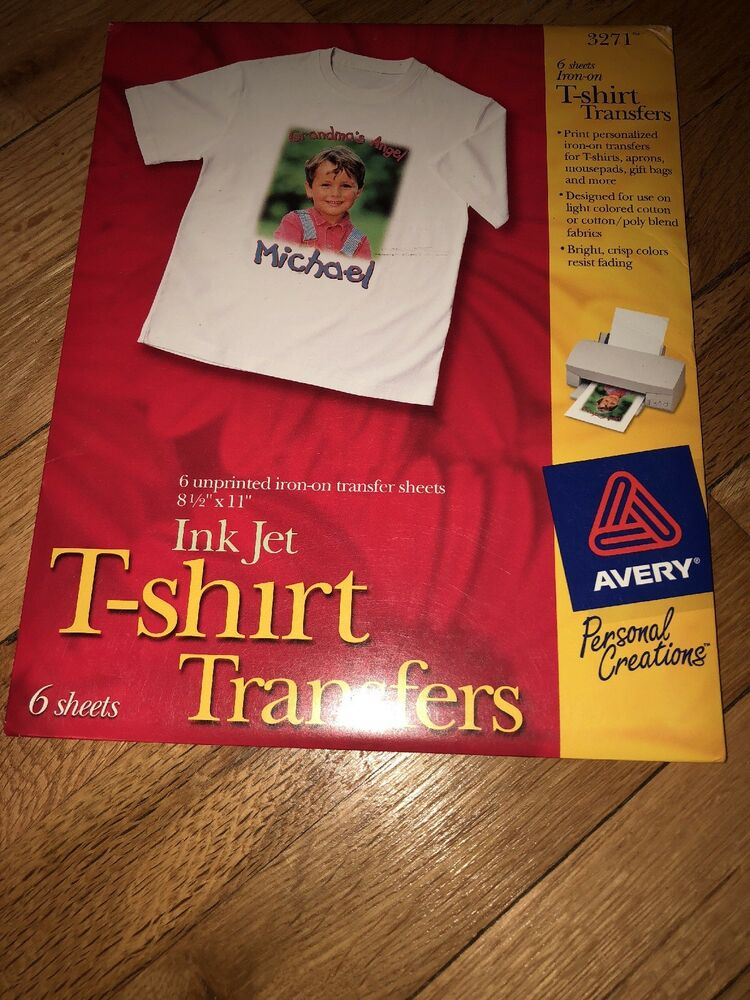 2 Pack Avery 4385 Dark T Shirt Transfers Iron On 4 X 6 Size 20 SHEETS