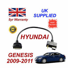 For Hyundai GENESIS iPhone 3gs 4 4s iPod USB & Aux Cable 09-11