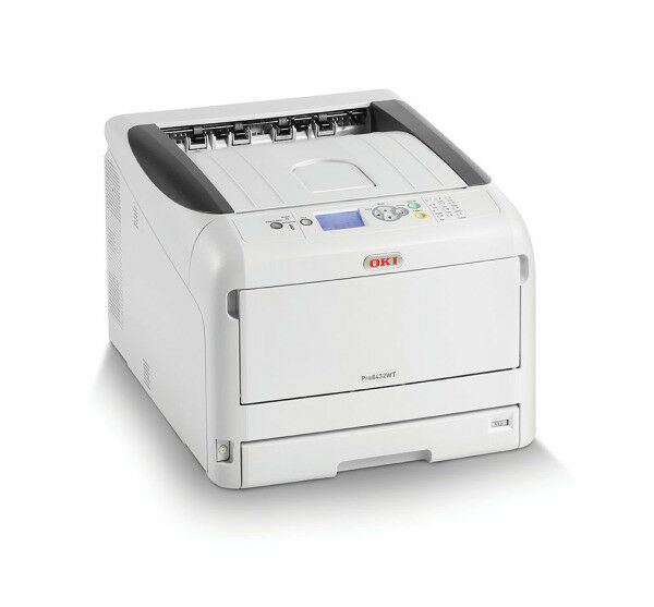 75748650 Details about OKI PRO8432WT - White Toner Printer - Supplied with 3 white  Toner Cartridges.