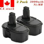 2Pack 18V 3.0AH Ni-MH Battery For Dewalt XRP DE9095 DC9096 DC9099 DW9096 DW9098