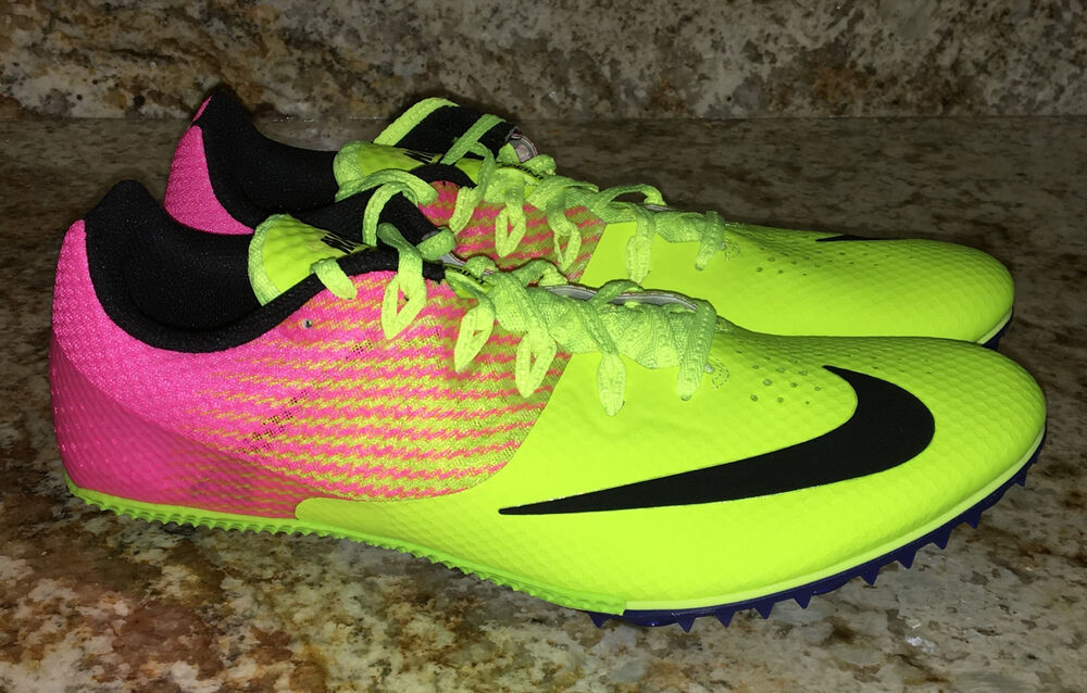 competitive price a71b9 e44fd Details about NIKE RIVAL S 8 Volt Pink Bl Sprint Track Spikes Shoes Womens  7 7.5 8 8.5 9 10 11
