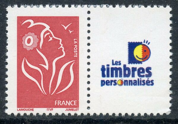 TIMBRE FRANCE NEUF PERSONNALISE N° 3741A ** MARIANNE LAMOUCHE LOGO TTP