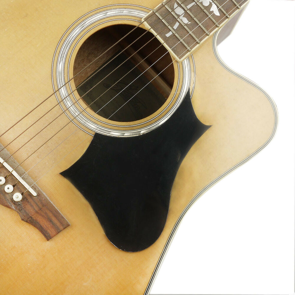 Self Adhesive Guitar Pickguard Black Anti Scratch Plate For Acoustic