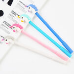 2pcs Cute Unicorn Gel Pen Black Ink Pen Kawaii Stationery School Office Supplies