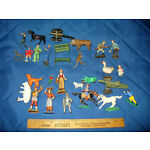 Lot of Vintage Metal & Plastic Figures Most Broken Barclay Lead Timpo Spaceman