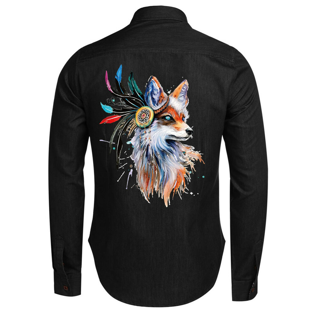 Details about fox cartoon iron on diy t shirt clothing heat transfer sticker patch appliques
