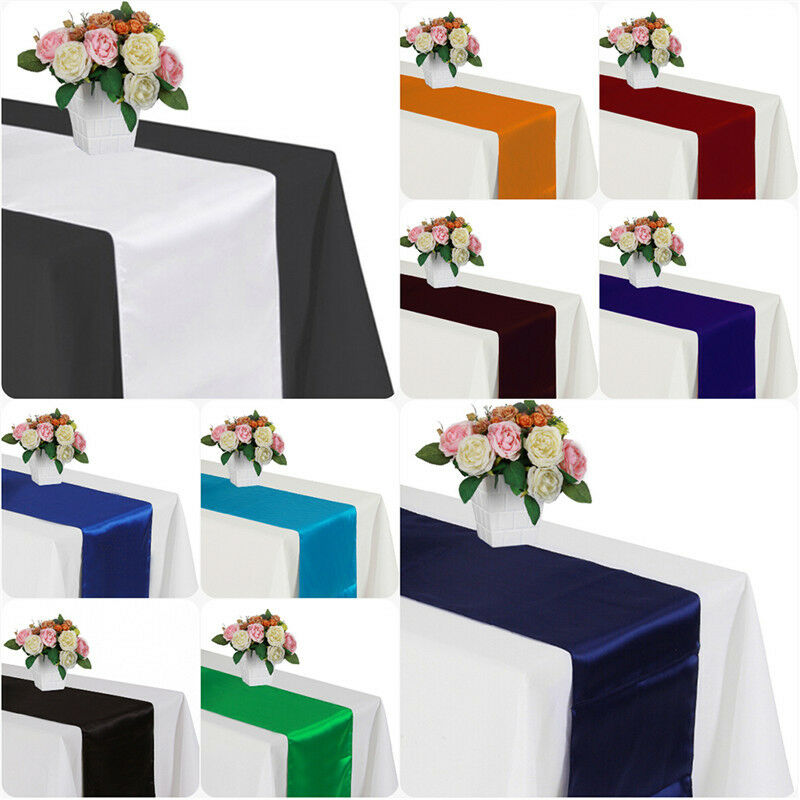 30cm x 275cm Satin Table Runner For Wedding Home Party ...