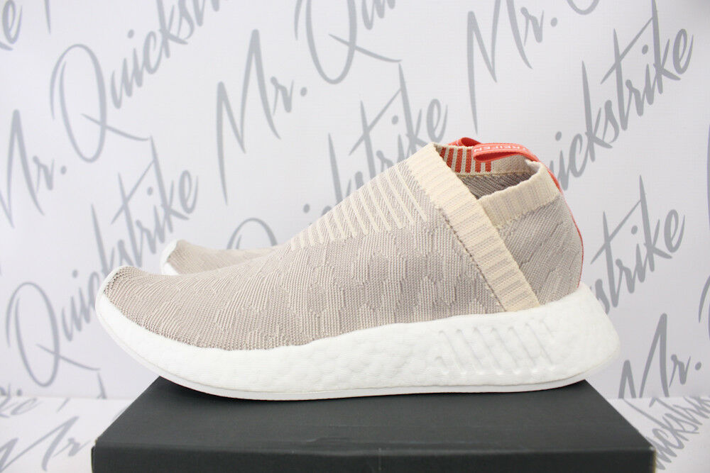 790d4785275 Details about ADIDAS ORIGINALS WOMENS NMD CS2 PRIMEKNIT SZ 10 LINEN GREY  CLOUD WHITE CQ2039