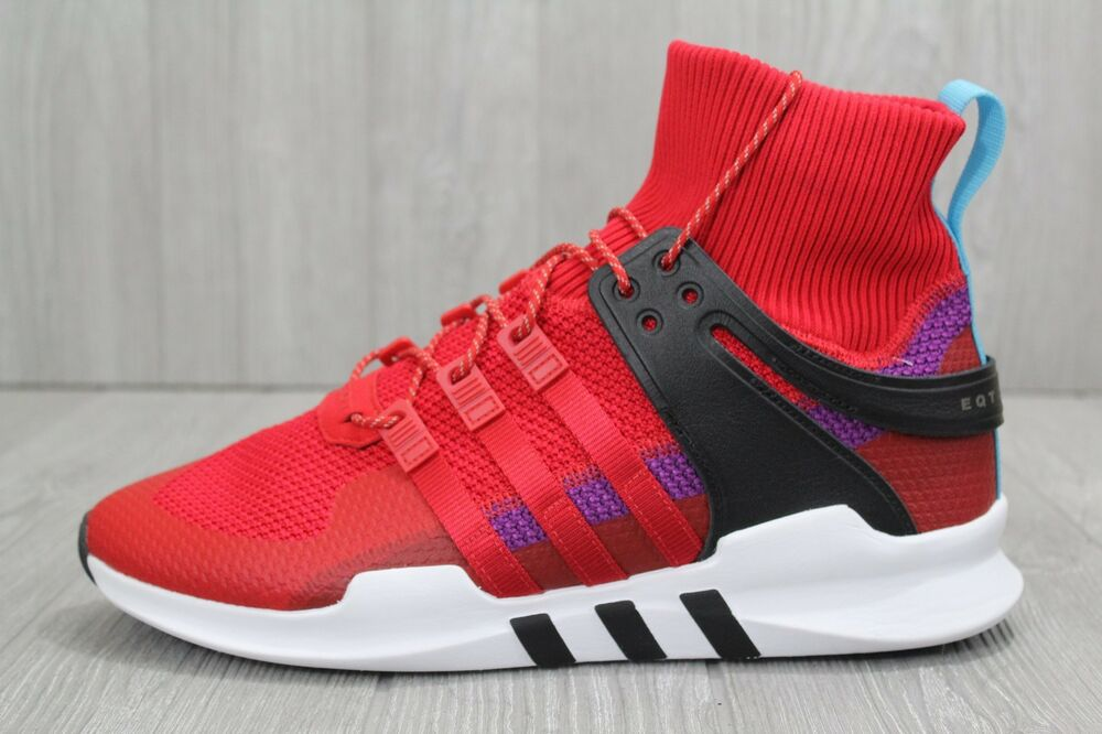 best sneakers 229c8 e9251 Details about 29 NEW Mens Adidas Originals EQT Support ADV Winter Scarlet  Red Purple BZ0640 12