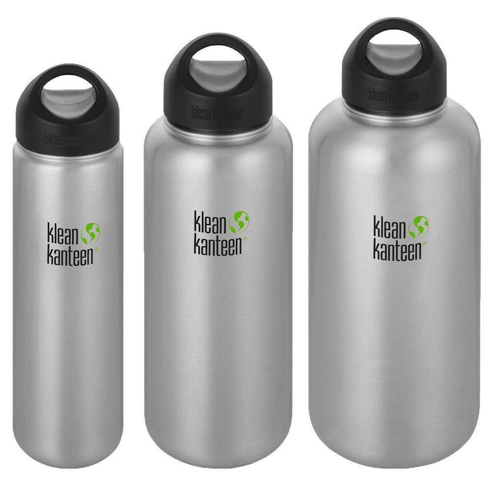 2952423f24 Details about Klean Kanteen Wide Single Wall Bottle with Loop Cap - Brushed  Stainless
