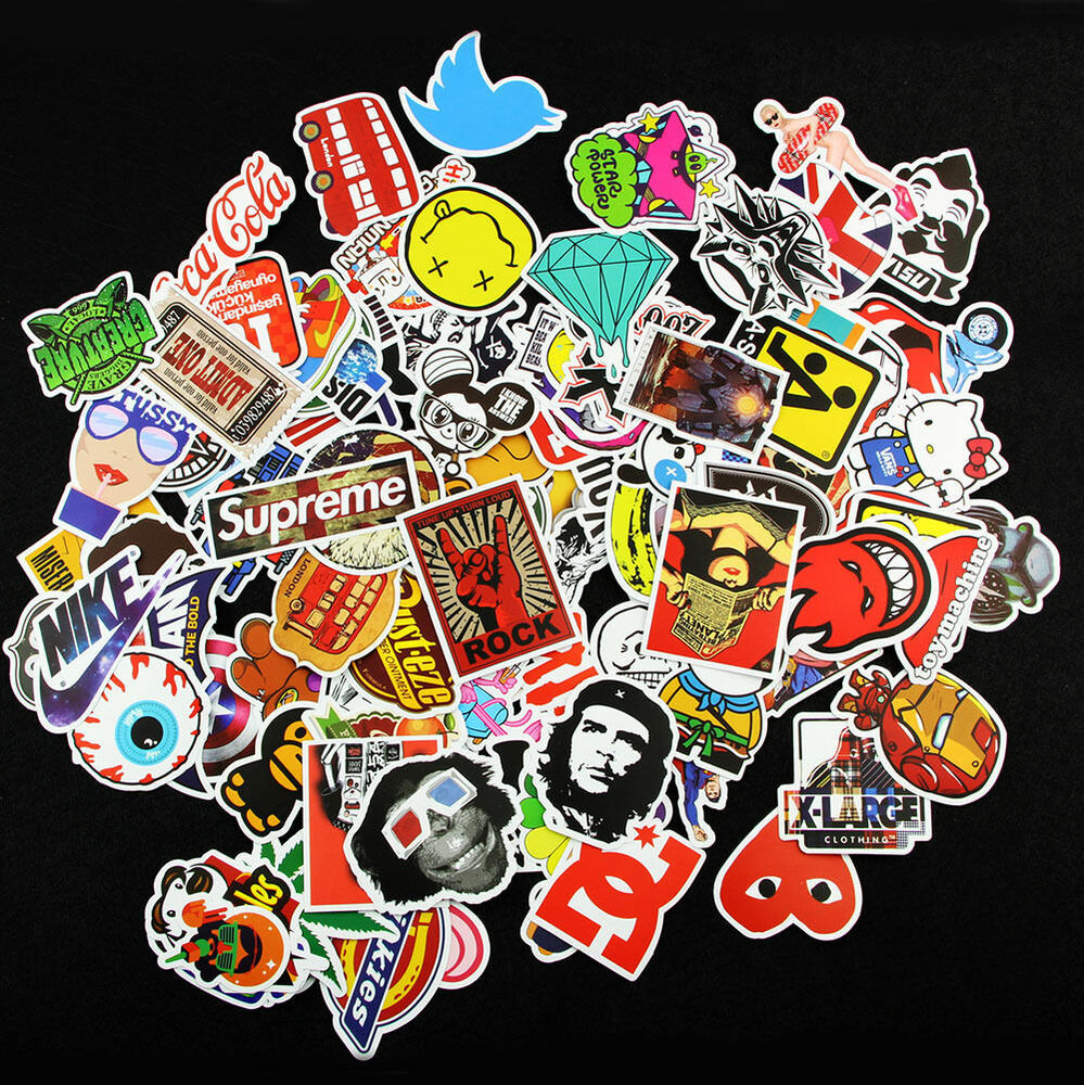 200 X Random Cool Vinyl Decal Graffiti Sticker Bomb Skate