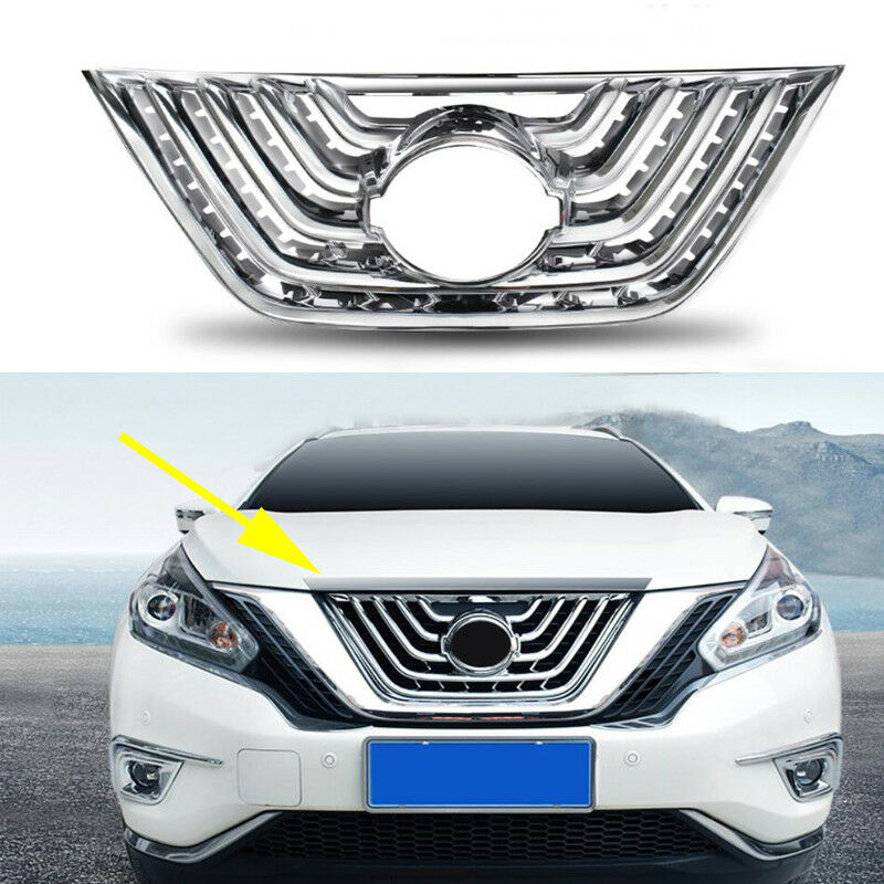 2017 Nissan Murano Exterior: ABS Chrome Front Grille Grill Frame Cover Trim Fit Nissan