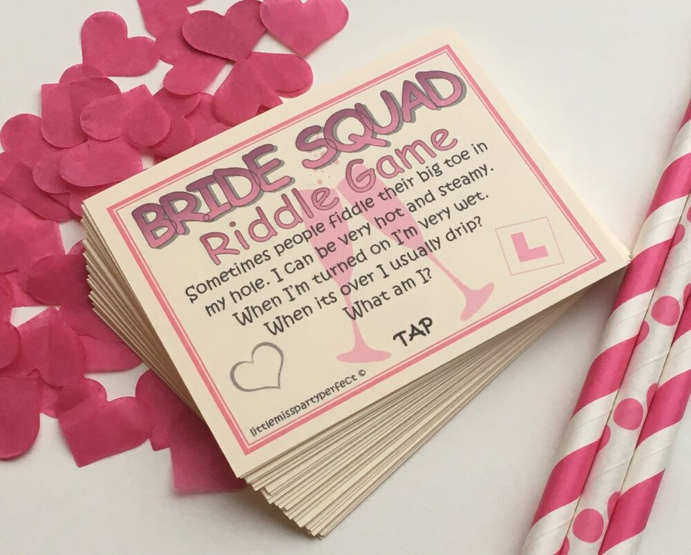 Hen Party Games Bride Squad Hen Night Dirty Riddle