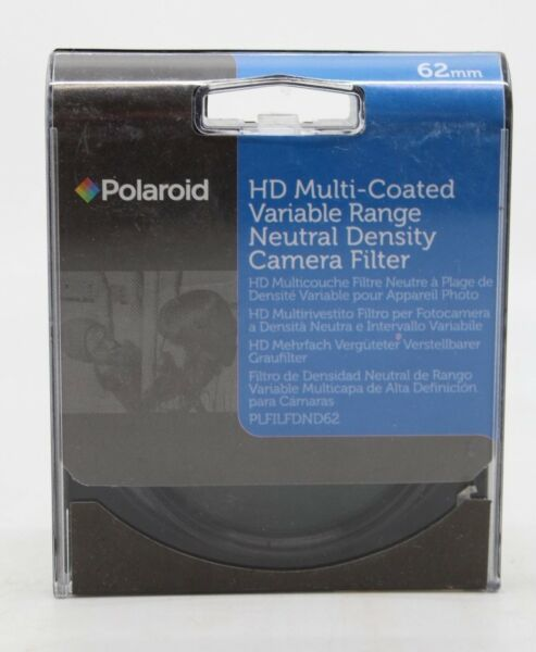 Polaroid multi coated veriable Graufilter Filter 62mm PLFILFDND62 NEU