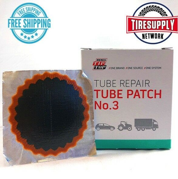Rema tip top round vulcanizing patches no 6 patch tube repair.