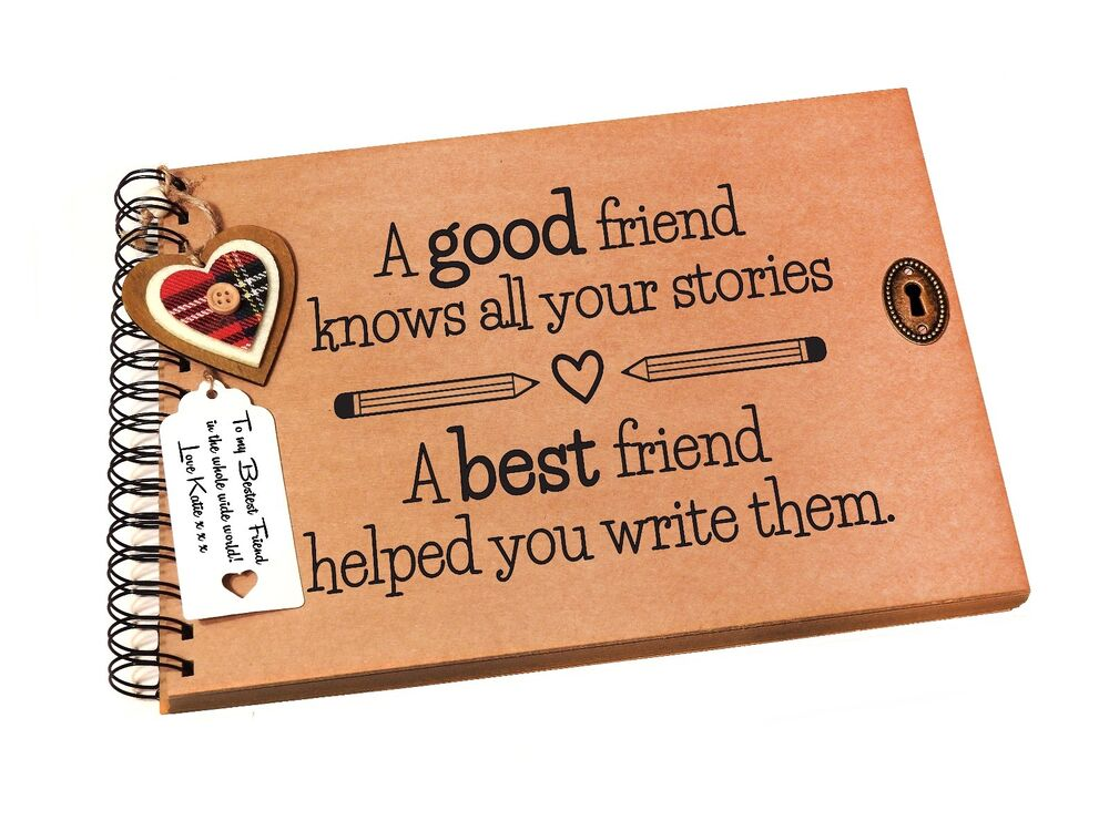 Details About A4 A5 Best Friend Quote Scrapbook Photo Album Memory Book Birthday Gift Idea