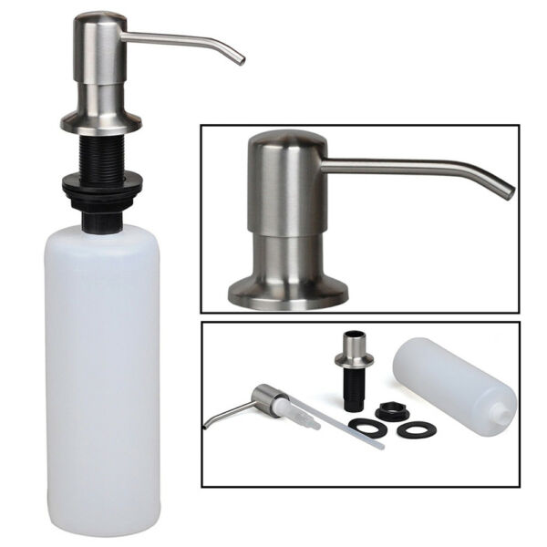 500ML Soap Dispenser Kitchen Sink Faucet Bathroom Liquid Lotion Shampoo Pumpp