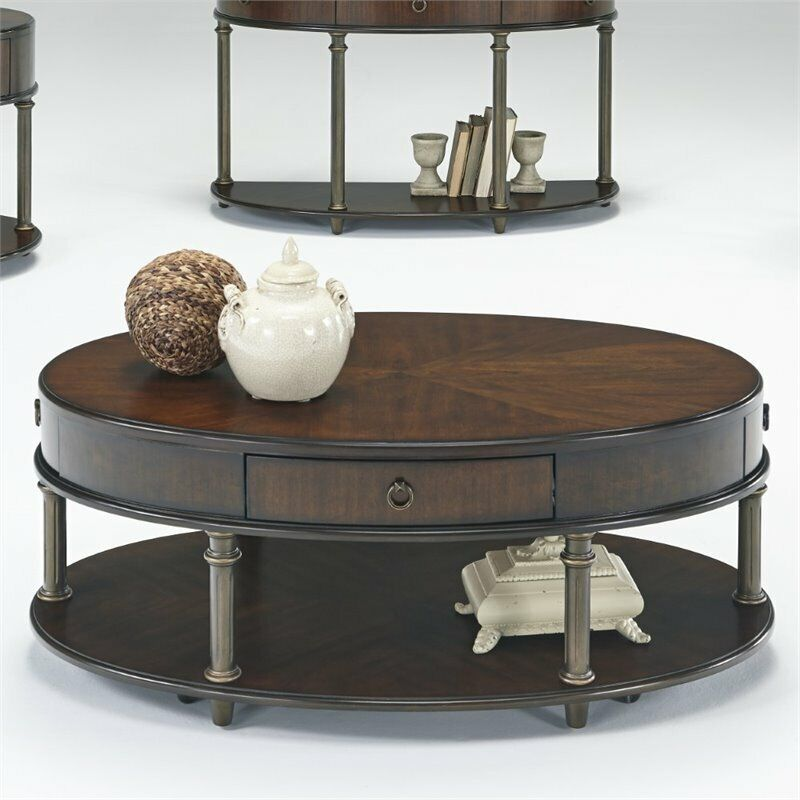 Progressive Regent Court Castered Oval Coffee Table In