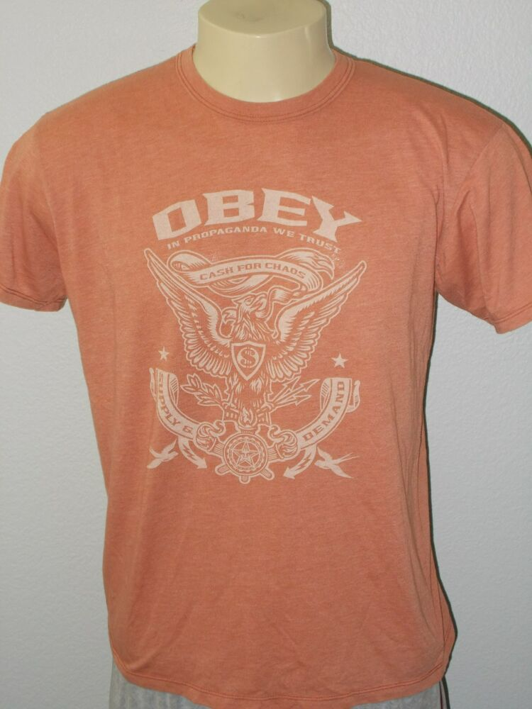 Obey In Propaganda We Trust Cash For Chaos Supply Demand Orange T