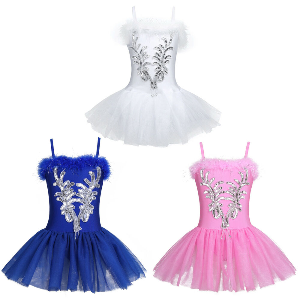 f5779ebcf Girls Toddler Ballerina Costume Skirt Ballet Dance Wear Leotard Swan ...