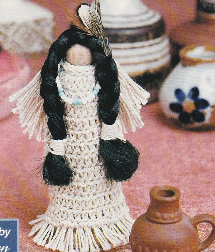 Cute Native American Clothespin Dollcrochet Pattern Instructions