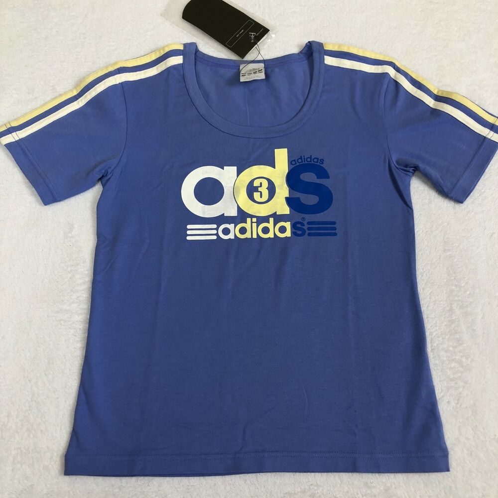 NEW Adidas Japan Vintage 90 s Womens Retro Graphic T-Shirt Top Size ... 0b8dd6d4a2353