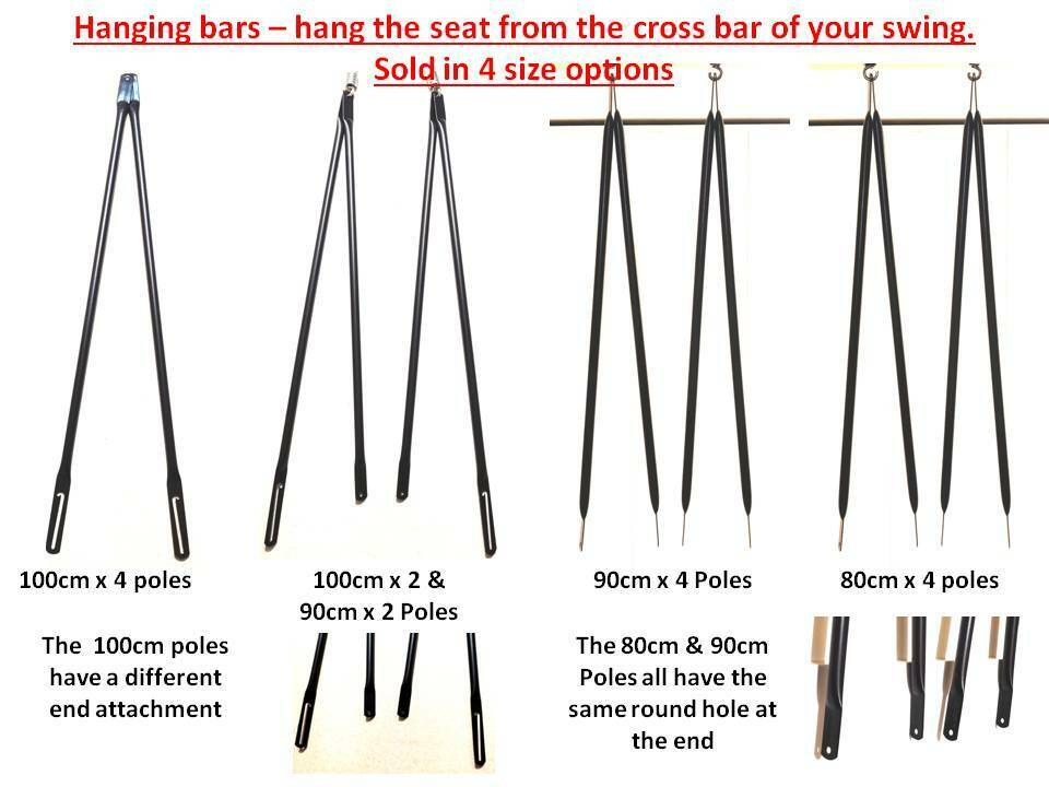 Garden Swing Replacement Swing Bars Hanging Poles For