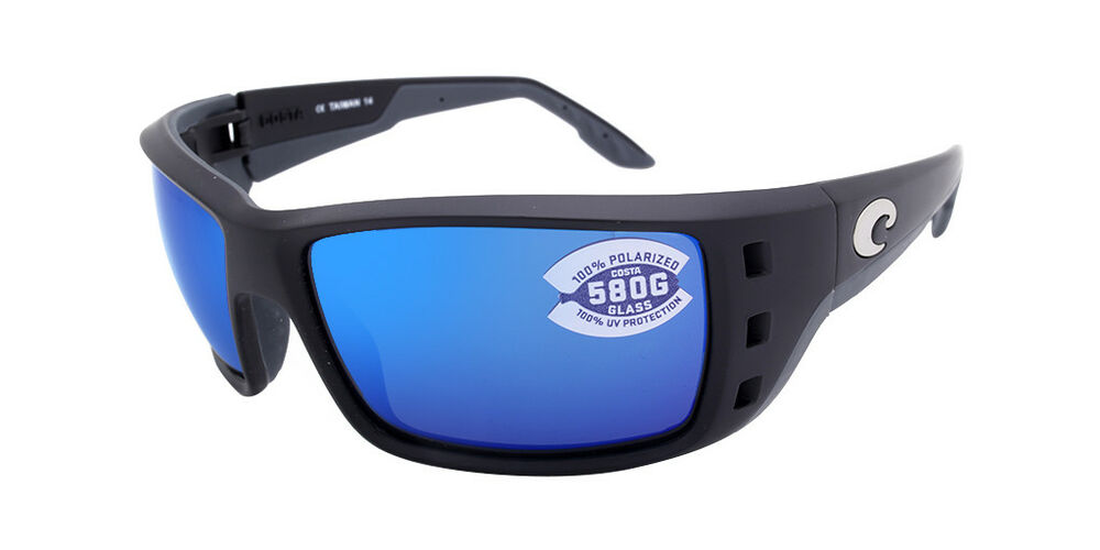 f54ede05cd Details about Costa Del Mar Permit PT 11 OBMGLP Matte Black   Blue Mirror  580G Polarized