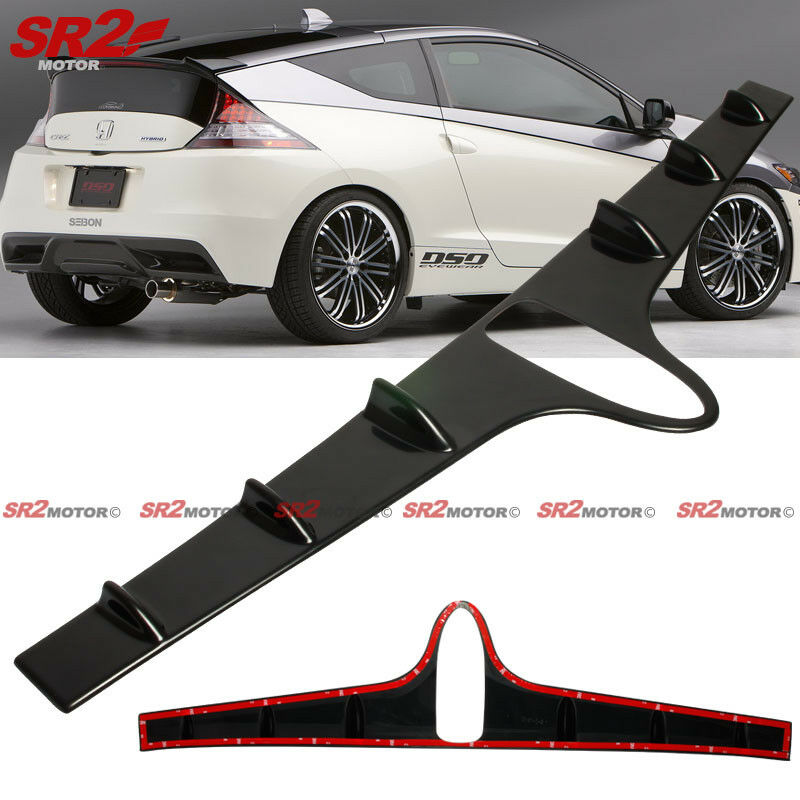 Details About Vg Style Rear Roof Spoiler Shark Fin Vortex Pu Wing Fits 2017 2016 Onda Cr Z Crz