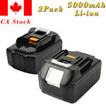 2x5.0AH 18V Li-ion BL1850 Battery For Makita BL1830 BL1840 BL1835 Lxt-400 194205