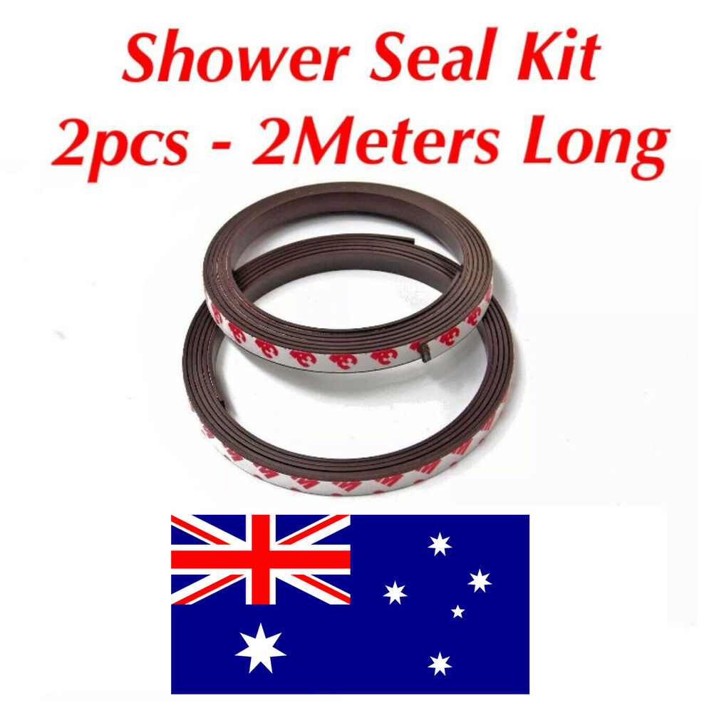 2m Shower Door Seal Kit Screen Magnetic Adhesive Replacement Magnet