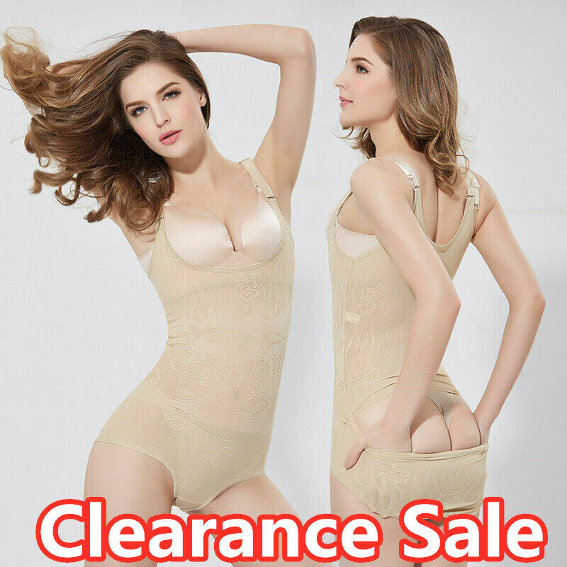 ba0bce3434a4c Details about Ladies Seamless Full Body Shaper Shapewear Bodysuit Firm  Control Girdle Corset