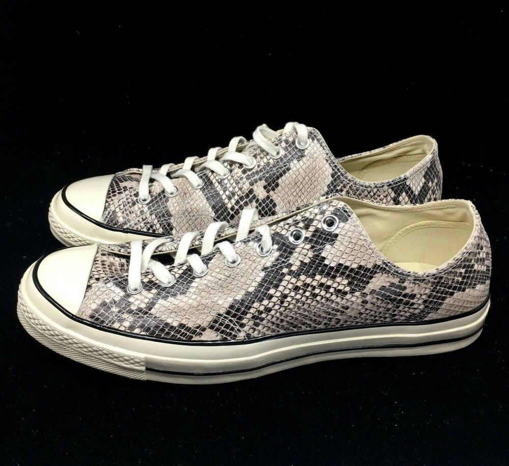 cf001acca35f Details about Converse Chuck Taylor All Star CTAS 70 Ox Snakeskin Black  Gray 158857C NEW
