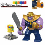 Infinity War Marvel Thanos Action Figure Minifigure for Lego With 24 Stones