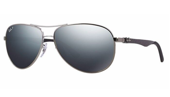 f00141f1d6 POLARIZED RAY-BAN Tech Carbon Gunmetal Aviator Mirror Sunglasses RB 8313  004 K6 8053672346275