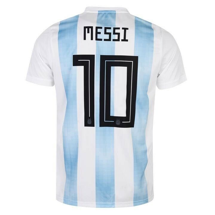 d75046f0d Details about adidas Argentina Home MESSI  10 Soccer Jersey World Cup  Russia 2018 Size XXL